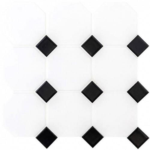 classic octagon and dot floor mosaic cs