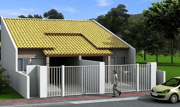 Casa pequenas e suas fachadas blog jardinagem e for Fachadas minimalistas de casas pequenas