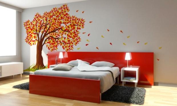 Resultado de imagem para decoração com adesivos para quarto de casal