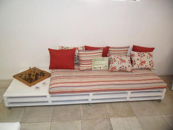 móveis de palete: Sofá de palete