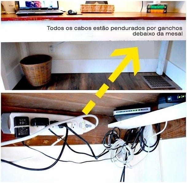 15 caminhos quase desconhecidos para esconder e organizar for How to hide electrical cords on wall