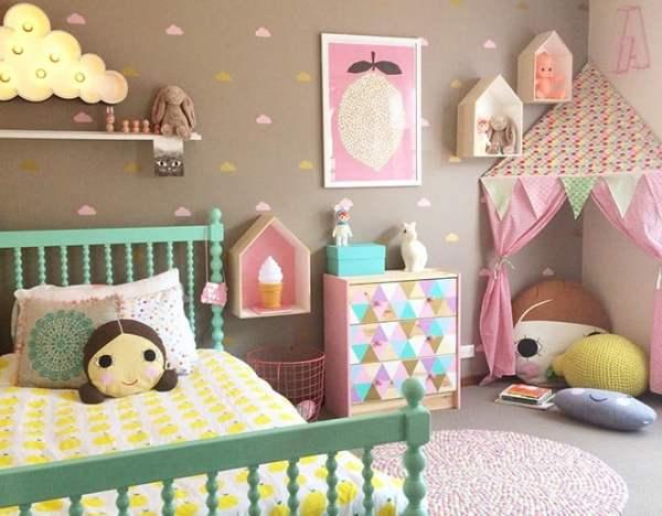 2 maneiras simples de decorar quarto de menina decorar - Cambiador de bebe de pared ...