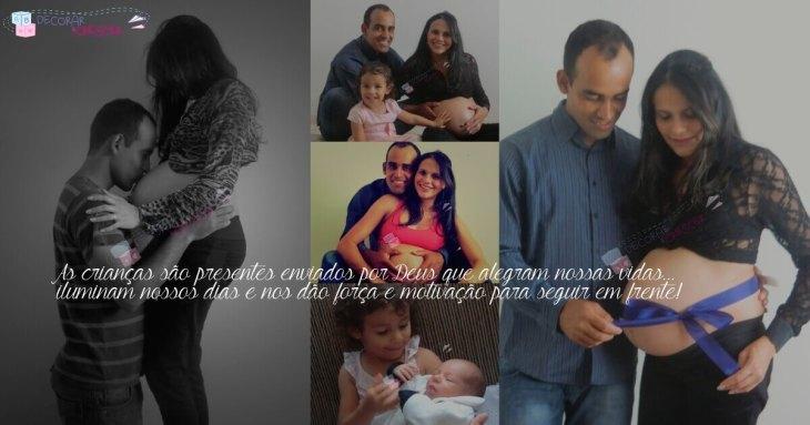 Fotos em família - nascimento e crescimento dos filhos