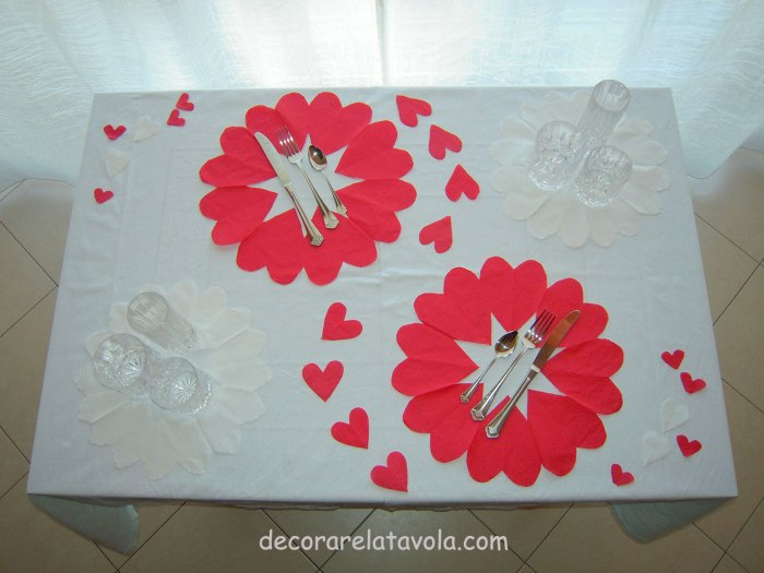 Tavola romantica San Valentino