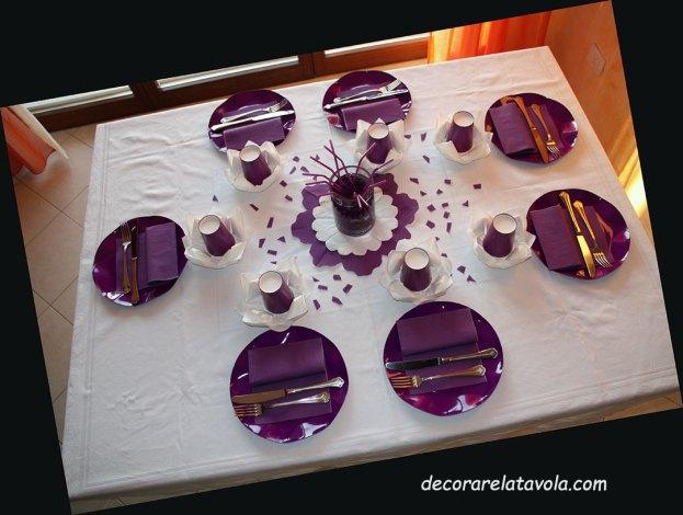 Idee tavola compleanno colore viola