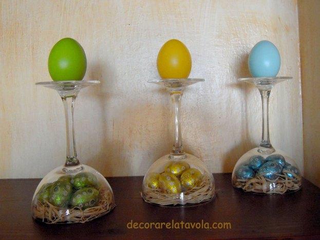 Pasqua tutorial decorazioni con bicchieri