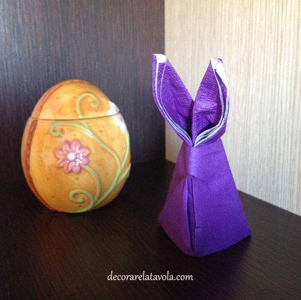 Per Pasqua tovaglioli a forma di coniglio