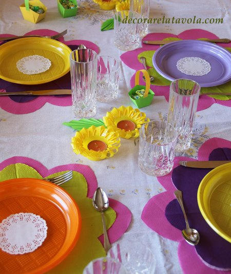 Apparecchiare la tavola in primavera