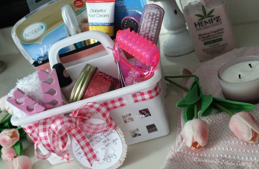 Foot Spa Gift Basket Decorate More With Tip
