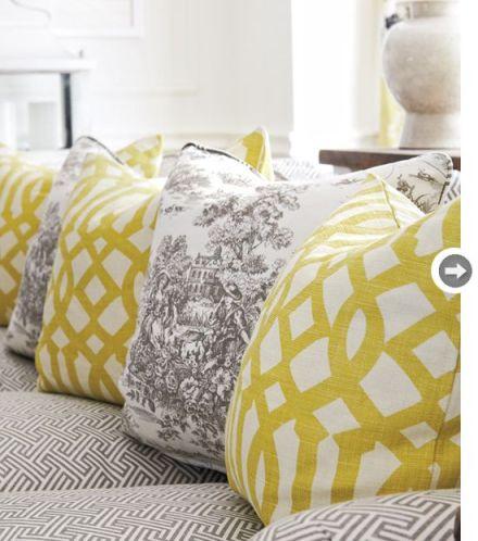 toile fabric and geometric fabric