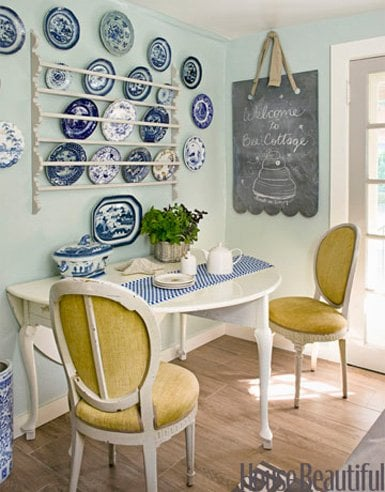 decorating on a budget - hanging wall plates