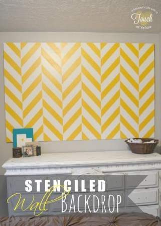 herringbone wall decor