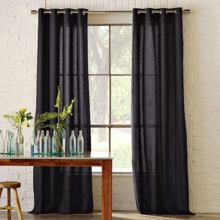grommets for curtains from West Elm