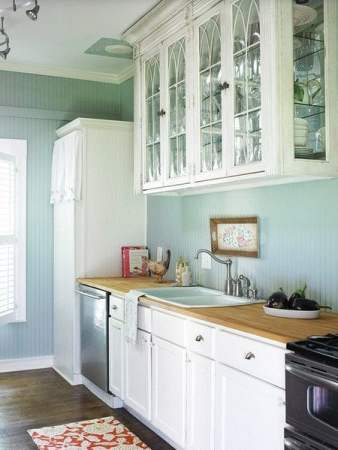 sky blue kitchen walls
