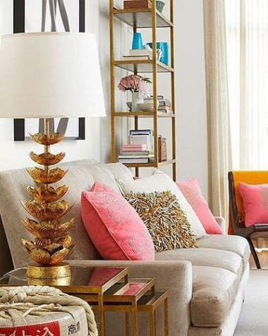 gold spray painted lamp is instant luxury