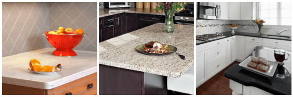 Double eased, single bevel and full bull nose countertops