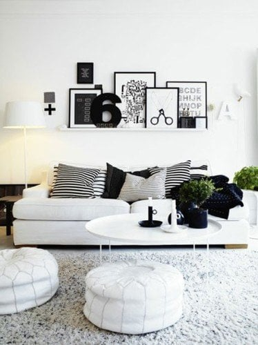 black and white classic decor