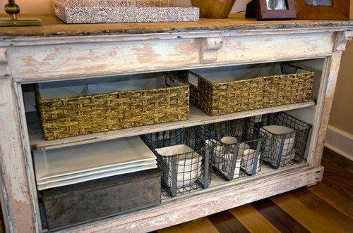 dining room open shelves