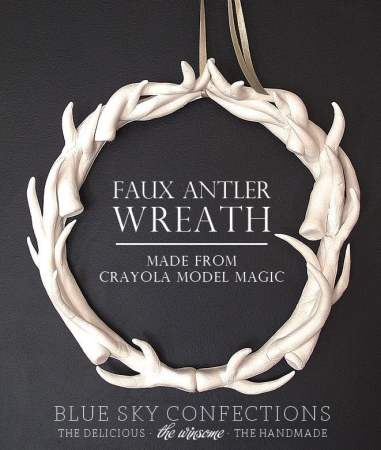 Faux Antler Wreath