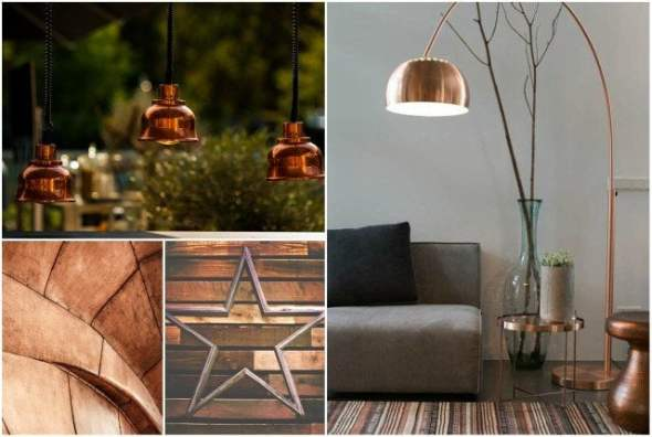 copper metallic decorating