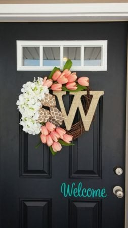 front door monogram10 Creative Front Door Decor Ideas Decorated Life
