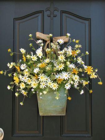 flower front door decor