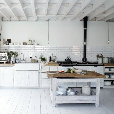 large white kitchen