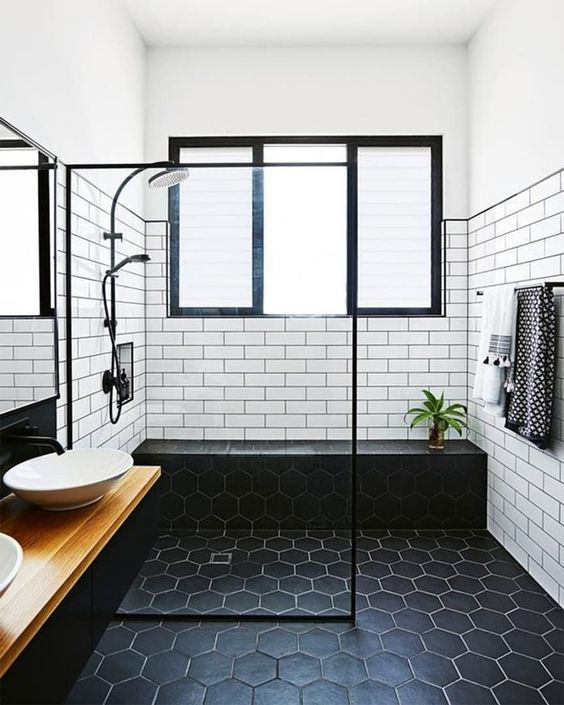 ways to use the hexagon tile shelves