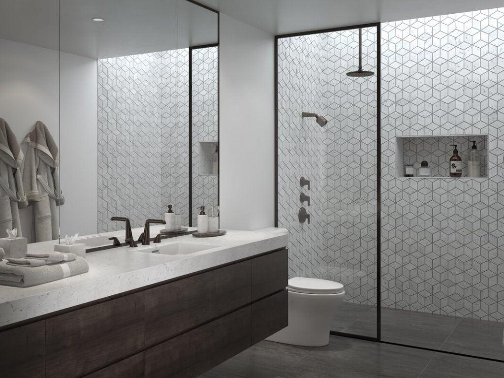 matte black shower floor tile collection hishtalmut decor
