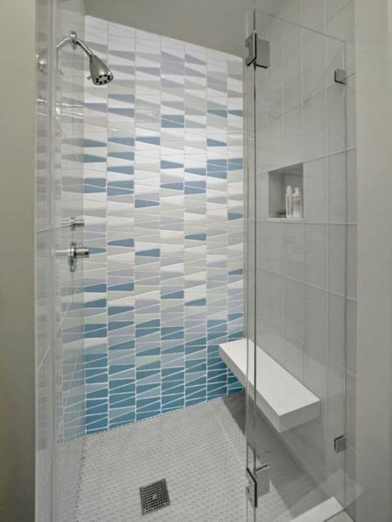 gorgeous shower and bathroom tiles