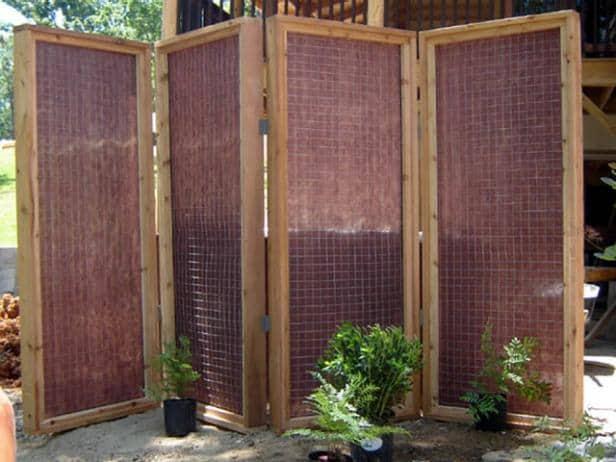 diy outdoor privacy screens