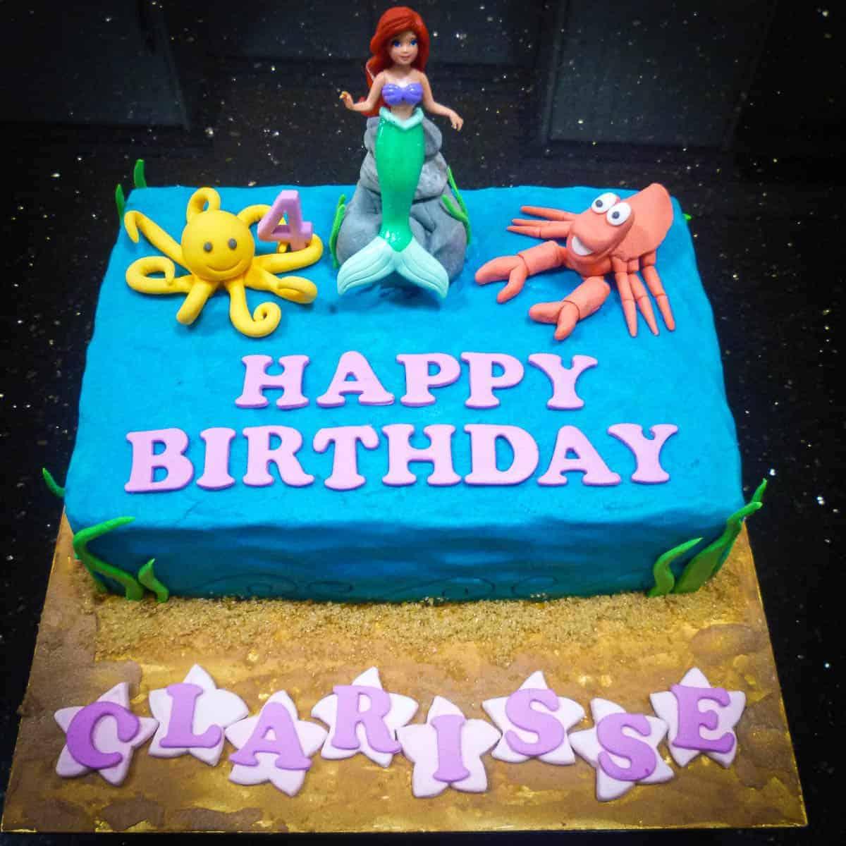 Little Mermaid Birthday Cake A Decorating Tutorial Decorated Treats