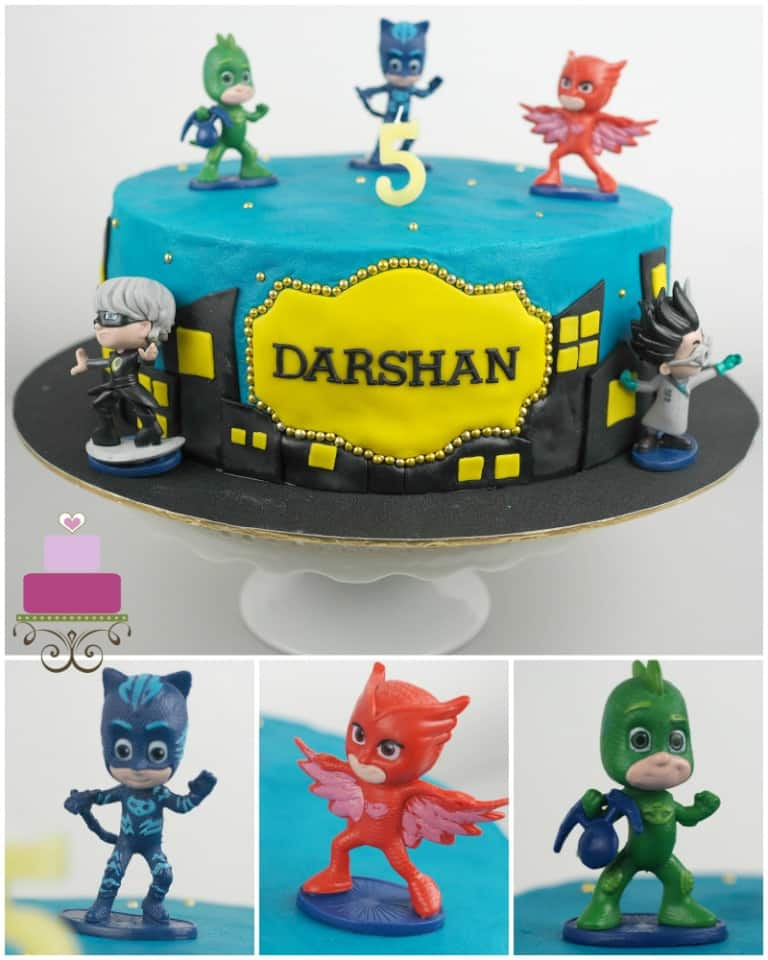 Pj Masks Birthday Cake Tutorial A Decorating Guide Decorated Treats