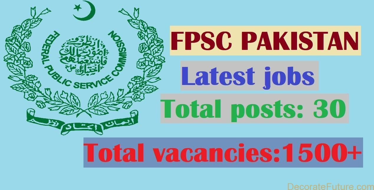 Federal Public Service Commission FPSC Latest Jobs February 2019
