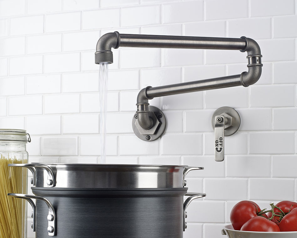 wall mounted kitchen faucet with top