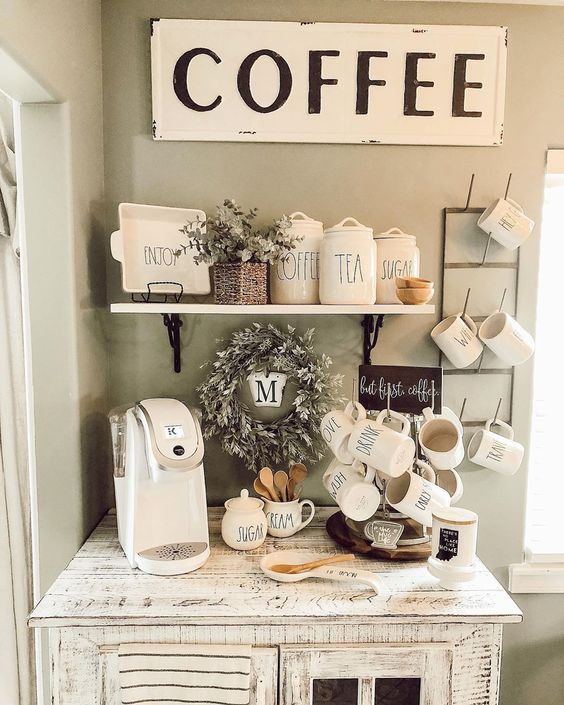 coffee corner ideas for a small space