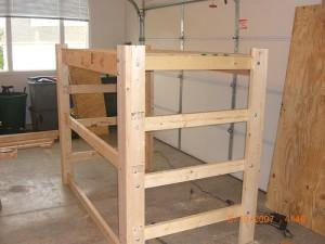 How To Build A Loft Frame For Dorm Bed