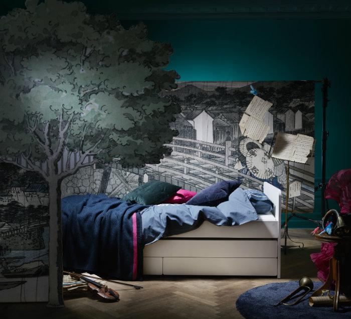 IKEA SLAKT κρεβάτι με αποθηκευτικό χώρο 328€ με όλα τα εξαρτήματα.