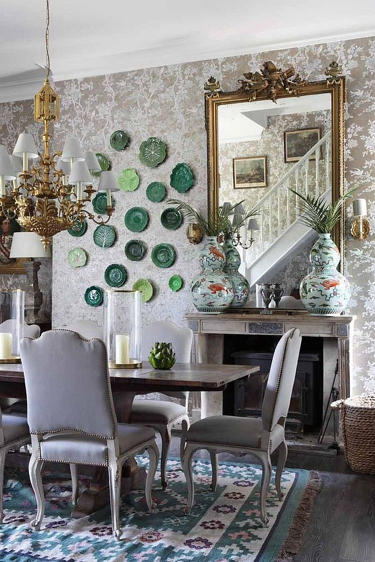 Floral Shabby Chic Style Dining Room Design