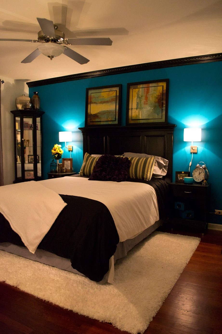Teal And Brown Master Bedroom Decor