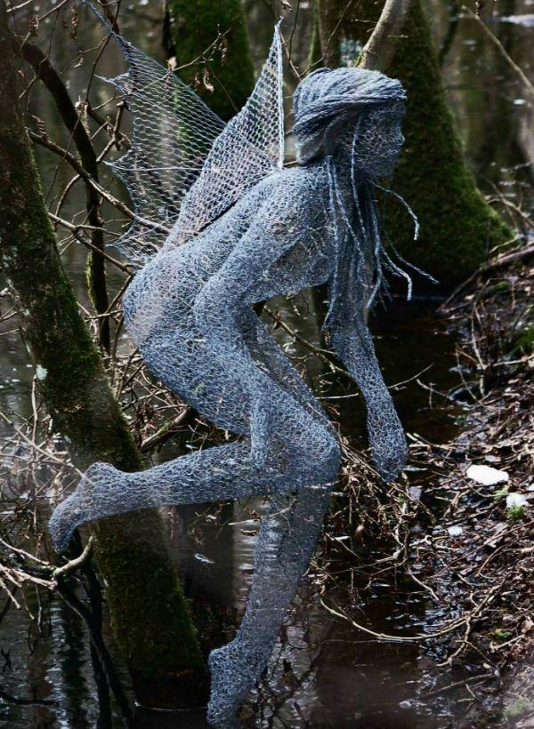 Chicken Wire Sculpture Fairy