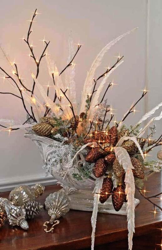 30 Christmas Centerpieces Lights Decorations Ideas Decoration Love