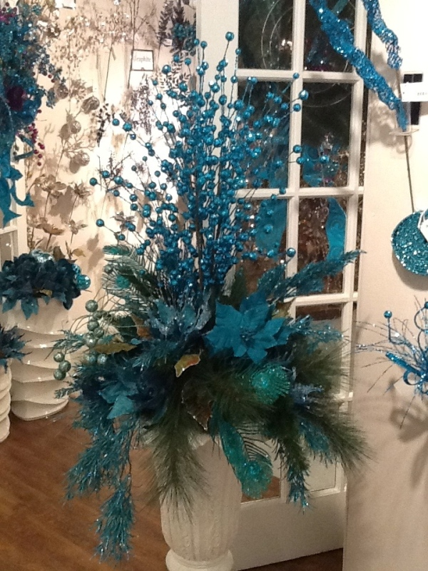 Christmas Tree Peacock Theme Colors