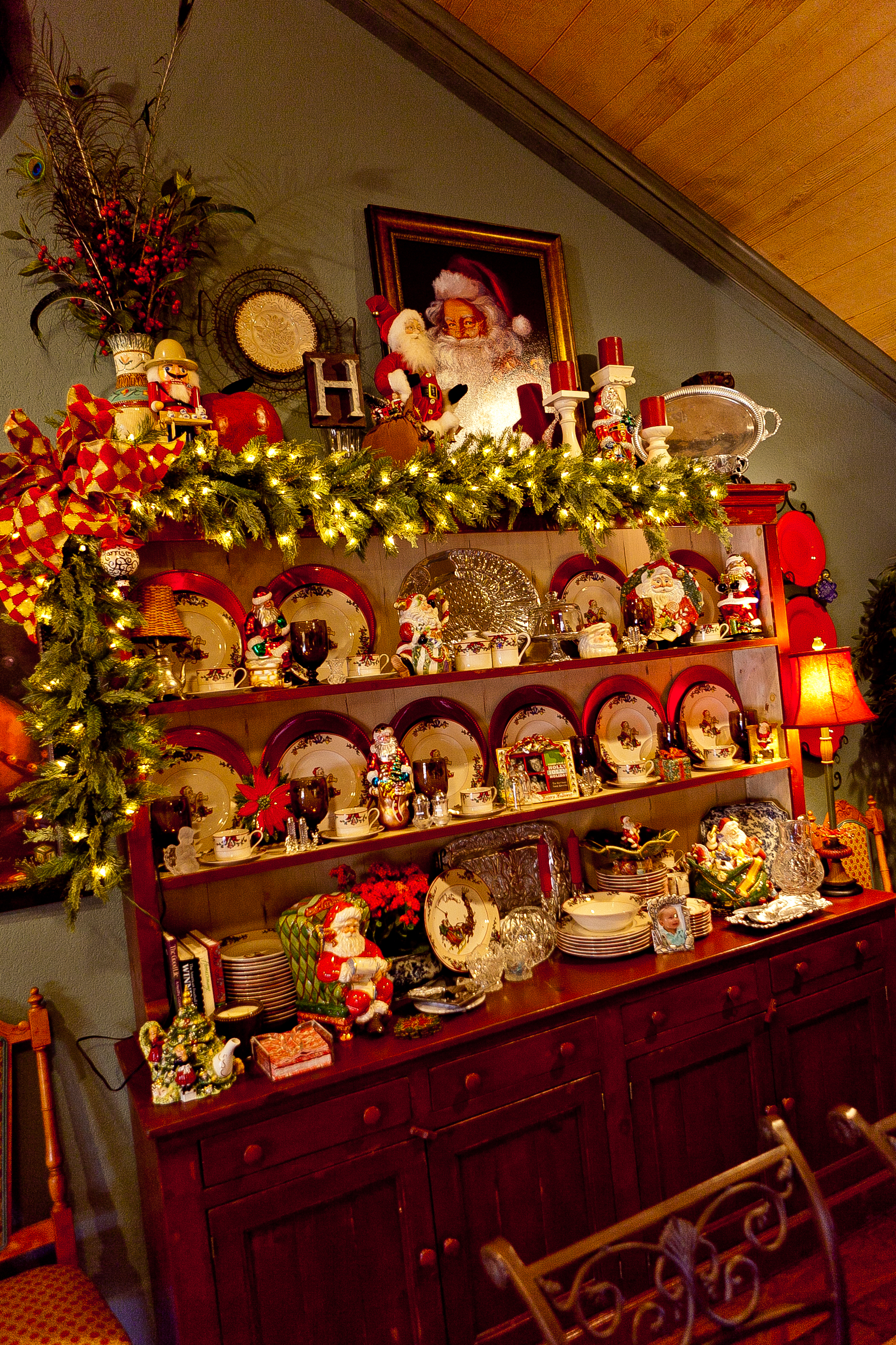 French Country Christmas Decorating