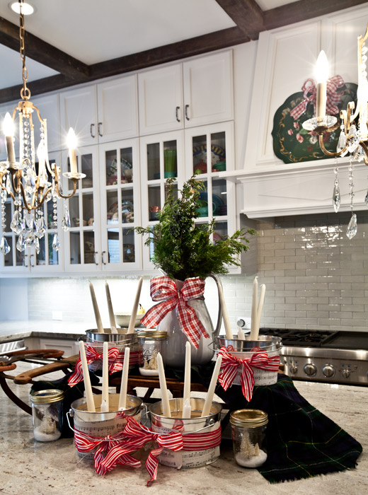 Kitchen Island Christmas Decorations