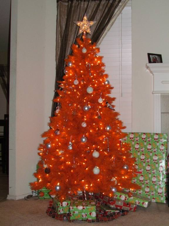 Orange Christmas Tree Design Ideas