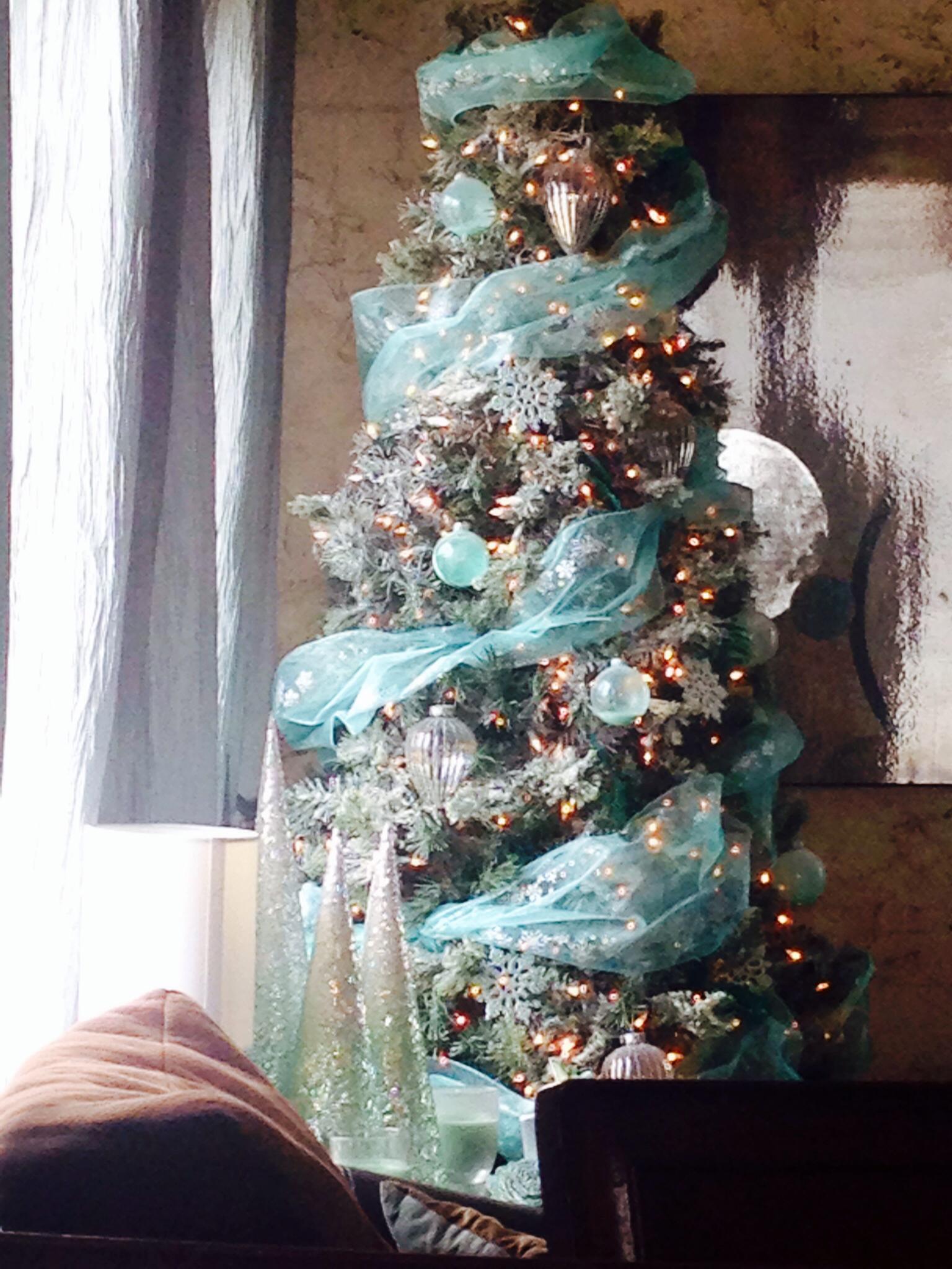 Purple And Teal Christmas Tree Design