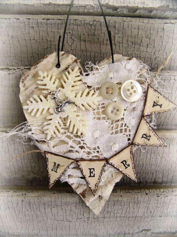Vintage Lace Handmade Christmas Ornament