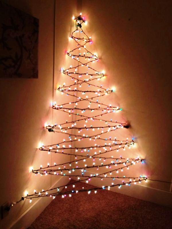 Wall Christmas Tree With Lights