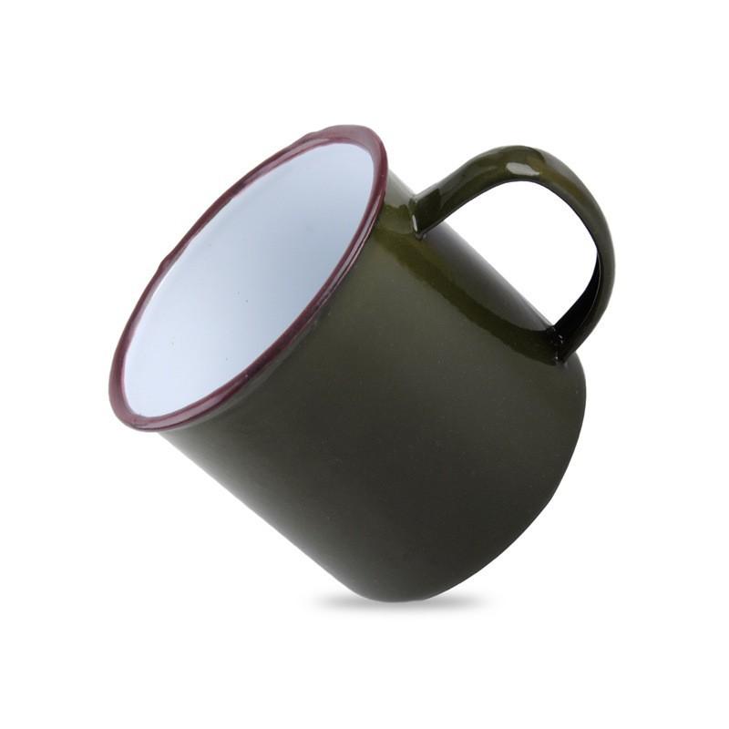 acheter tasse cafe retro tasse bistrot retro tasse emaillee vintage color green